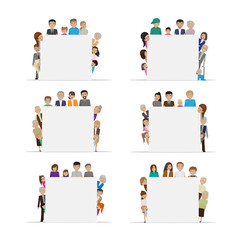 People Advertise Your Commercials - Isolated On White Background