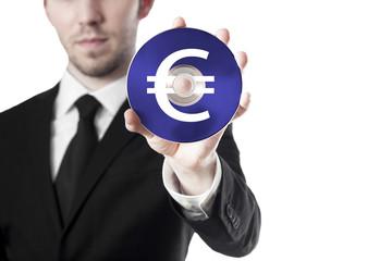 Mann hält CD