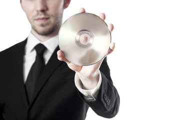 Mann mit CD