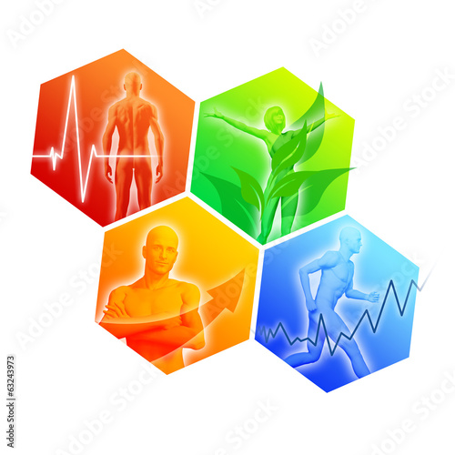 canvas print picture Health and Fitness Icons III