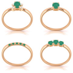 Vector Gold Rings