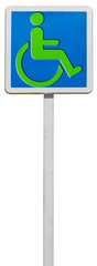 panneau piste verte pour fauteuils roulants