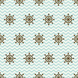 Seamless pattern of hand wheels and waves