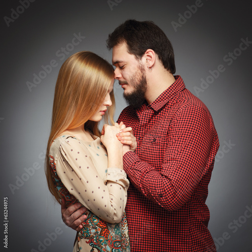 Portrait of a young couple in love