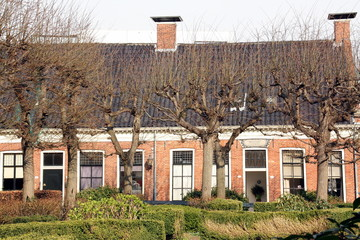 Old houses in the guesthouse(Pepergasthuis)in Groningen