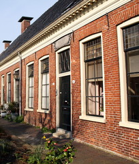 Oldd houses in the pepperguesthouse in Groningen