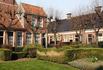Old houses in the Pepperguesthouse in Groningen