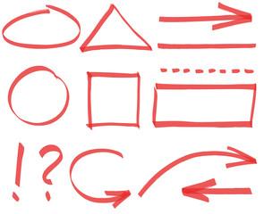 Set of vector simple design elements
