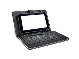 Black Tablet PC case, Keyboard and Stylus