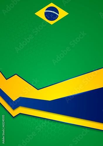 Vector background in Brazilian colors