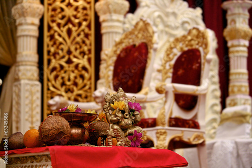 Ganesh in the Mandap