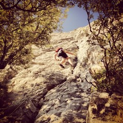 climber in south of france