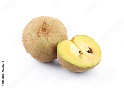 Sapota isolated on a white