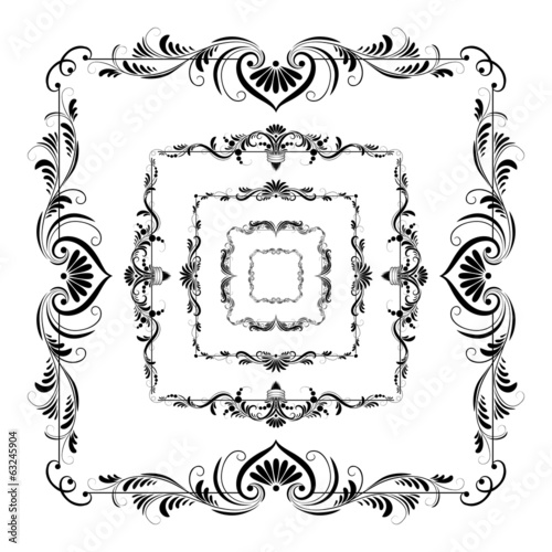 Vector set of frames for design