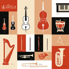 Classica music instruments