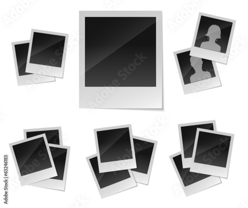Empty photo frames set