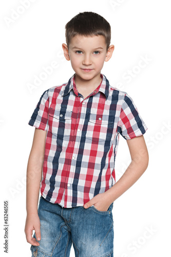 Confident fashion young boy