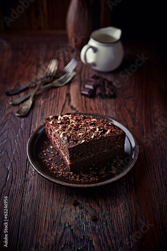 Dark Espresso Cake with Chocolate Glaze