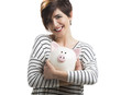 Woman with a piggybank