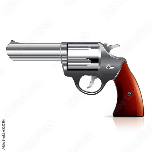 Old revolver vector illustration
