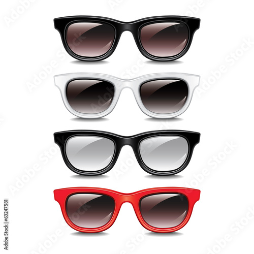 Transparent sunglasses vector illustration