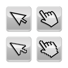 Vector illustration hand cursor mouse