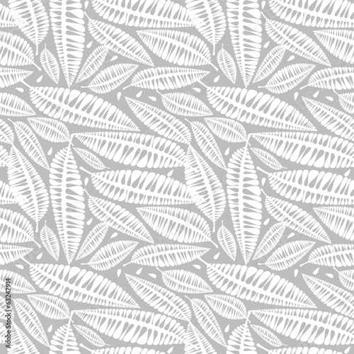 white leaves of seamless pattern