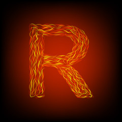 Fire letter R