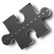 straße puzzle element