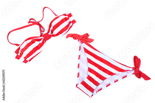 Swimsuit isolated on white