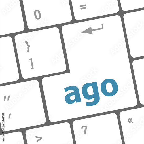 ago message on enter key of keyboard keys