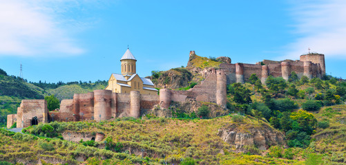Ancient fortress Narikala in Tbilisi