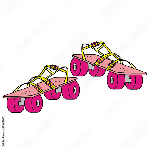 rollerblades, vector illustration