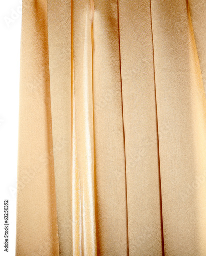 Colorful curtain isolated on white