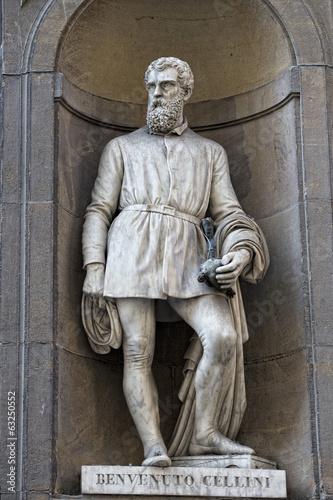 Poster Florence uffizi statue Benvenuto Cellini