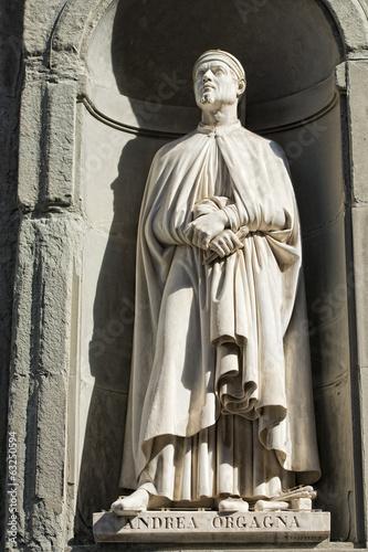 Poster Florence uffizi statue Andrea Orgagna