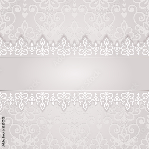 Wedding card for invitation with abstract floral ornament