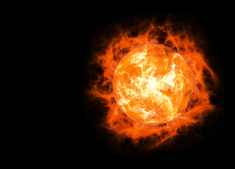 bright hot planet on a dark backgrounds