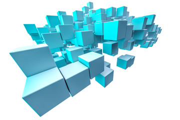 blue shaded cubes