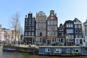 Typical houses, Amsterdam, Holland