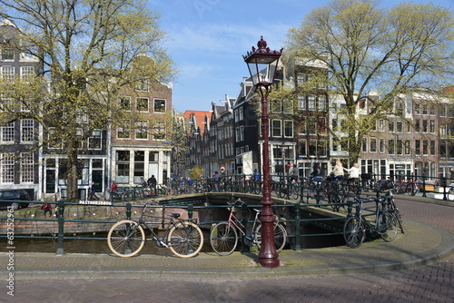 Bike and canals, Amsterdam, Holland