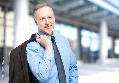 Smiling businessman outdoor