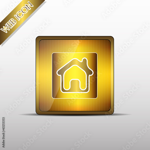 Web icon house - vector