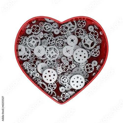 Clockwork heart silver