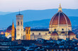 Florence, dome and Cathedral, Italian panorama