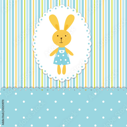 Baby background with rabbit