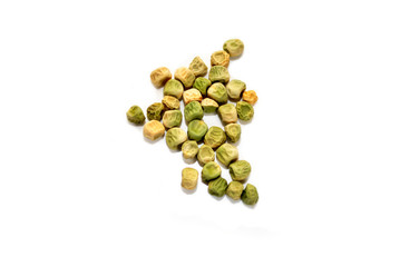Pea Sedds Isolated on a White Background