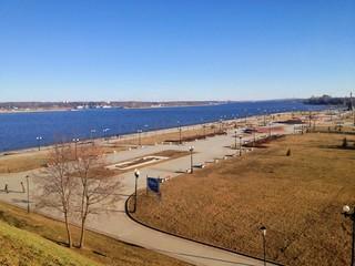Volga river in Yaroslavl, Russia