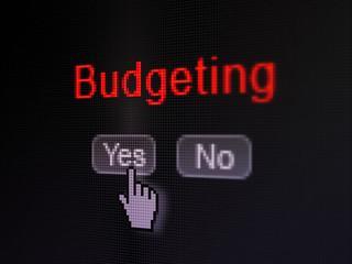 Finance concept: Budgeting on digital computer screen