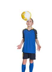 Young footballer.